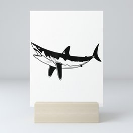 Makos Matter Ocean Conservation Save The Sharks T-Shirt Mini Art Print
