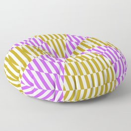 Crossing the lines - the magenta and yellow optical illusion Floor Pillow