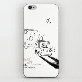 Ape Deals with a Tailgating Driver iPhone Skin