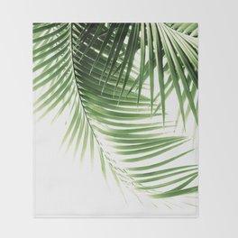 Palm Leaves Green Vibes #9 #tropical #decor #art #society6 Throw Blanket