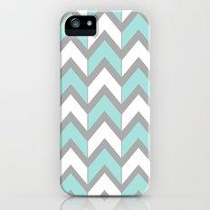 Minty Chevron iPhone (5, 5s) Slim Case
