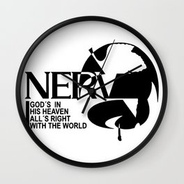 nerv logo Wall Clock