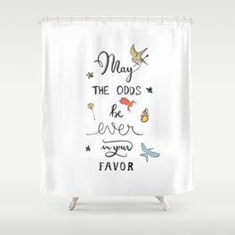 Hunger Game quality calligraphy Shower Curtain