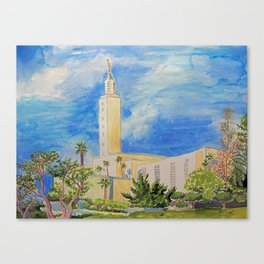 Los Angeles California LDS Temple Canvas Print