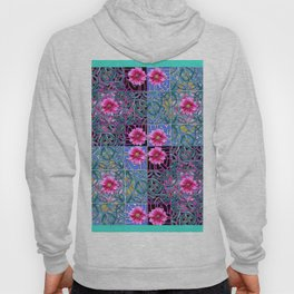 COLORFUL FUCHSIA GREEN-BLACK 4 PANEL CELTIC ART Hoody