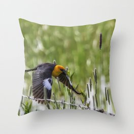 Flying the Fenceline Throw Pillow