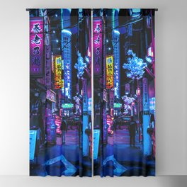Tokyo's Moody Blue Vibes Blackout Curtain