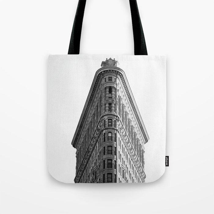 Flatiron Black and White NYC Tote Bag