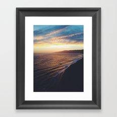 Point Dume Sunset Framed Art Print