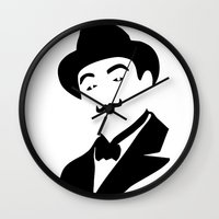 hercules Wall Clocks featuring Hercules Poirot by b & c
