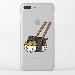 Rottweiler Sushi Clear iPhone Case