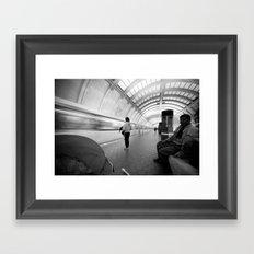 On the Metro, Washington DC Framed Art Print