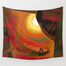 sun ray-travellers Wall Tapestry