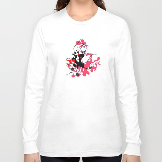 Flamenco Dancer Abstract Long Sleeve T-shirt
