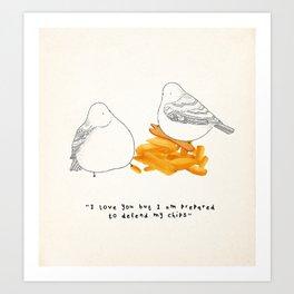 I Love Chips Art Print