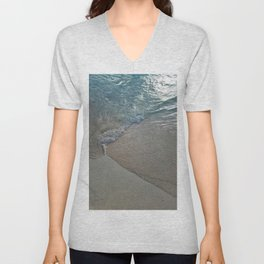 Peaceful Beach in the Cayman Islands Unisex V-Neck
