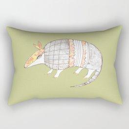 Stich and Fauna:  Armadillo Rectangular Pillow