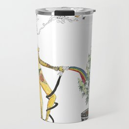 Rainbow Weed Babe - Higher Life Travel Mug