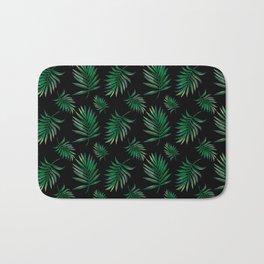 tropical palm leaves Bath Mat