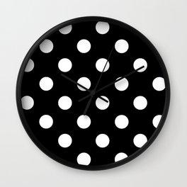 Polkadot (White & Black Pattern) Wall Clock