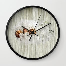 Frosty bed Wall Clock