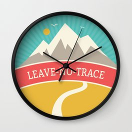 Wilderness: Leave No Trace Wall Clock