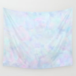 Rainbow Unicorn Pastel Fluffiness Wall Tapestry