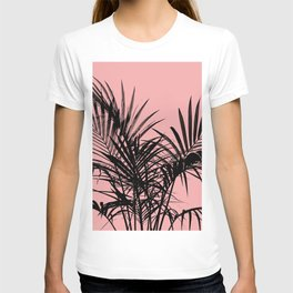 Little palm tree in black with peach T-shirt