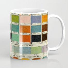 Colors Vintage Scientific Illustration French Language Encyclopedia Lithographs Educational Diagrams Coffee Mug