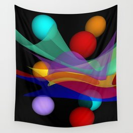 waves on black -01- Wall Tapestry
