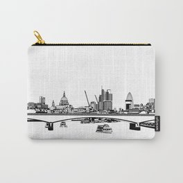 London Black and White Carry-All Pouch
