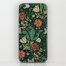 William Morris Compton Floral Art Nouveau Pattern iPhone Skin