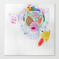 et Canvas Prints featuring ET by Effie Ling