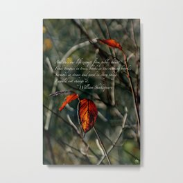 Autumns Last Dance with Shakespeare Cards & Posters Metal Print