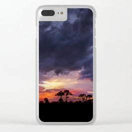 Spring Sunset Clear iPhone Case