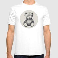 Teddy Bear Mens Fitted Tee MEDIUM White