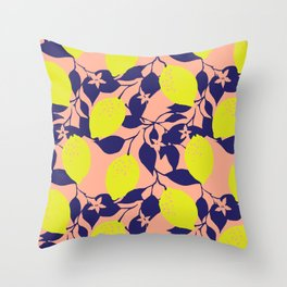 Lemons Throw Pillow