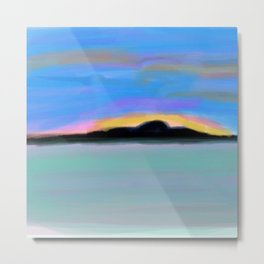 Peaceful Sunset of Dreams Metal Print