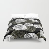 lanterns Duvet Covers featuring Chinese lanterns by Grafite