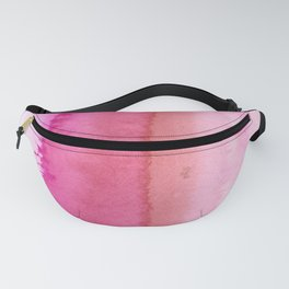 Modern abstract blush pink watercolor paint pattern Fanny Pack