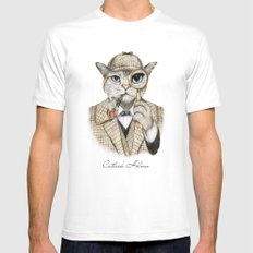 Catlock Holmes Mens Fitted Tee White LARGE