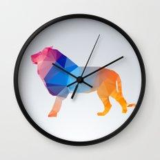 Glass Animal Series - Lion Wall Clock
