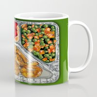 eat Mugs featuring Eat Me by Rachel Caldwell