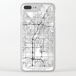 Las Vegas Map White Clear iPhone Case