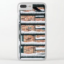 Fire Escape in Snow. East Village. New York City. Clear iPhone Case