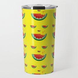 Watermelonween Face Travel Mug