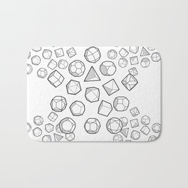 Platonic solids Mega Bath Mat