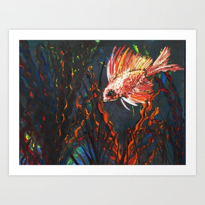 Orange Fish, Red Fish, Anything you Wish Fish Art Print
