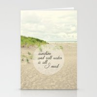 salt water Stationery Cards featuring sunshine and salt water by Sylvia Cook Photography