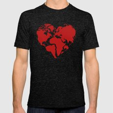 One Love LARGE Mens Fitted Tee Tri-Black